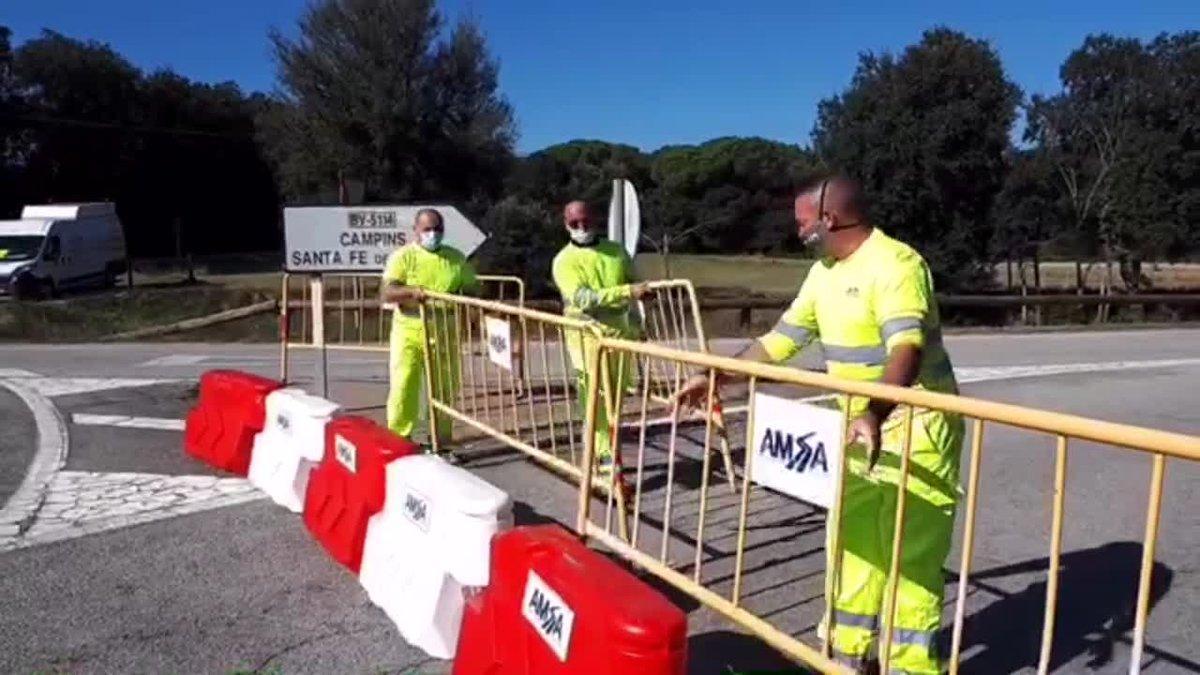 Cortan las carreteras de acceso a Santa Fe del Montseny.