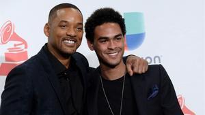 El actor Will Smithy su hijo Trey Smith en la gala de los Grammy, en Las Vegas.