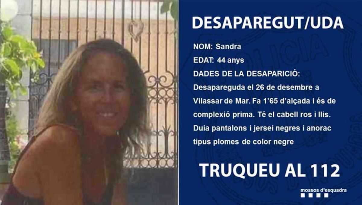 La mujer que ha desaparecido en Vilassar de Mar.