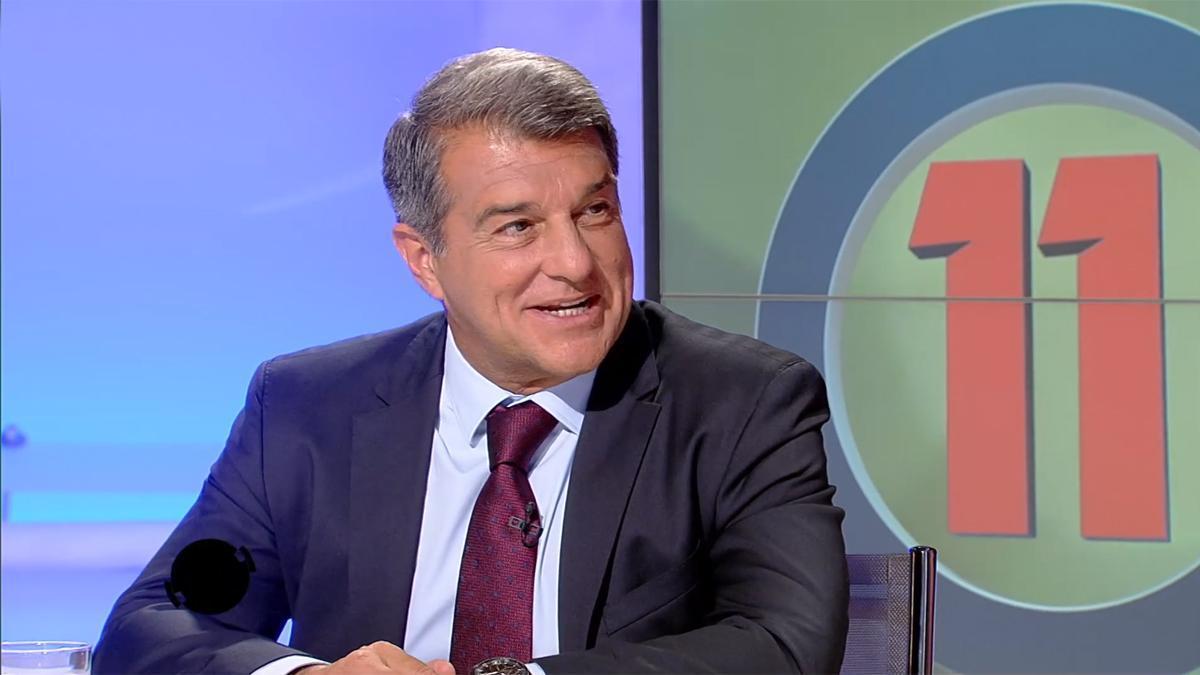 Joan Laporta interviene en el programa 'Onze' de TV3