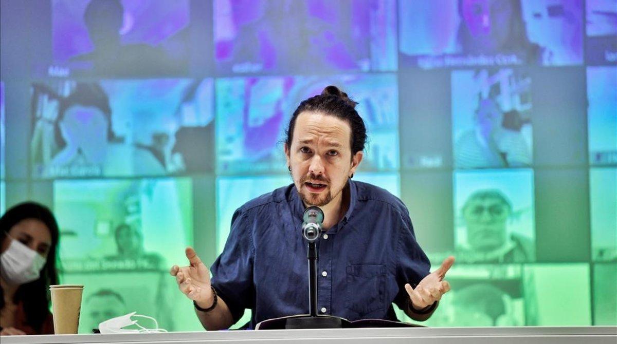 Pablo Iglesias interviene en el Consejo Ciudadano de Podemos, el pasado sábado.