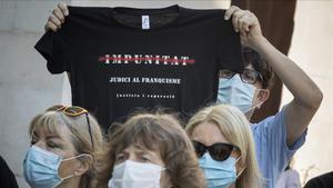 Concentración contra la impunidad del franquismo, el pasado 3 de septiembre.