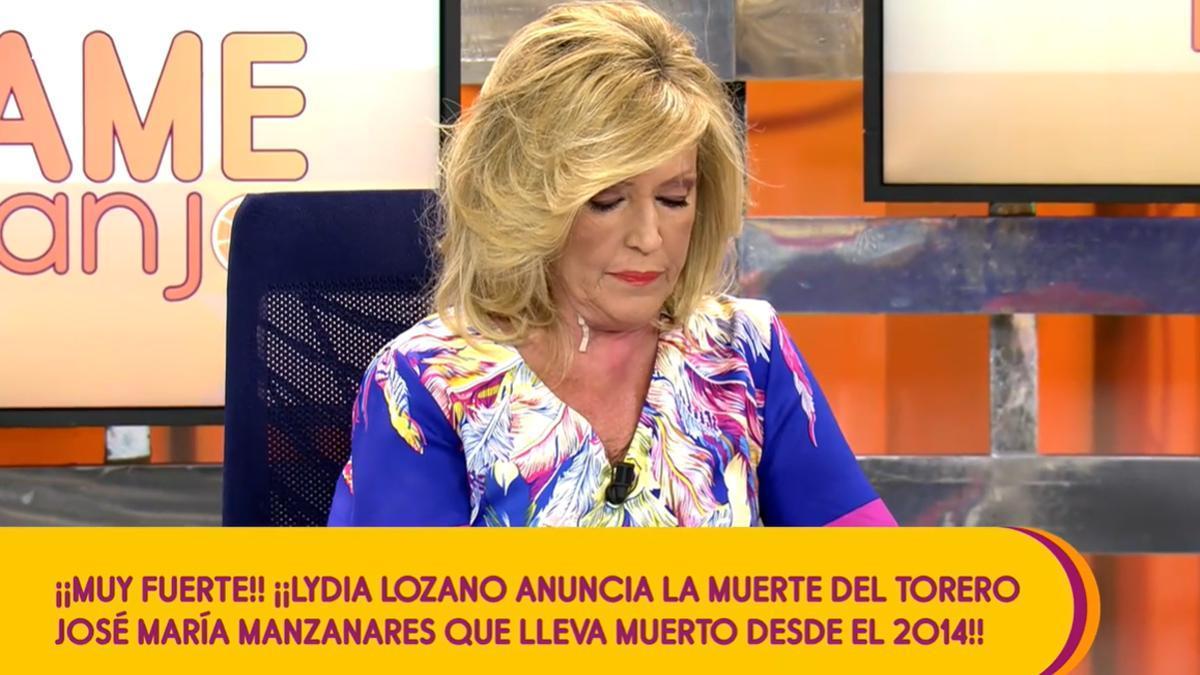 """Lydia Lozano """"mata"""" a José Mari Manzanares, fallecido en 2014, y deja a Matamoros al borde del infarto"""