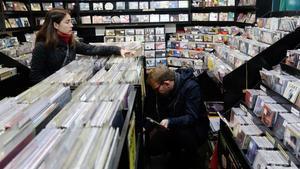 Una imagen de la tienda de discos Revólver, de Barcelona, en 2017.