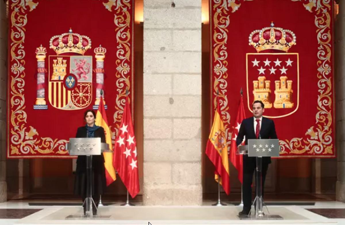 Ayuso i Aguado arriben a un acord Pressupostos per «reactivar» Madrid