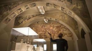 Guirao defensa que les pintures murals de Sixena es quedin al MNAC fins a la decisió definitiva