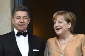 Angela Merkel y su marido,Joachim Sauer, en la aperturadel Festival de Bayreuth.