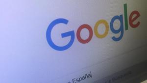 Pantalla de la barra del buscador de Google en una pantalla.
