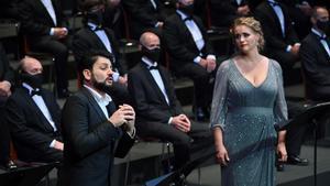 Un momento de 'Il trovatore', en el Liceu, el jueves.