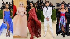 Alfombra roja de la Gala Met 2021 en Nueva York. En la foto, Amanda Gorman, Billie Eilish, Rosalía, Timothée Chalamet y Naomi Osaka.