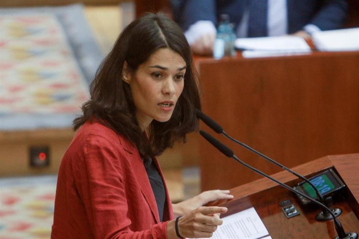 La portavoz de Unidas Podemos,Isa Serra.