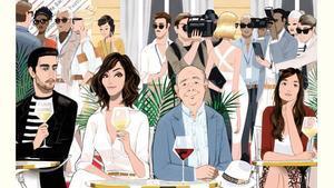 Vista parcial del cartel de la película de Woody Allen.