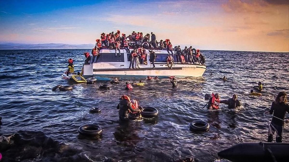 Imagen del documental de TV-3 'To Kyma. Rescat al mar Egeu'.