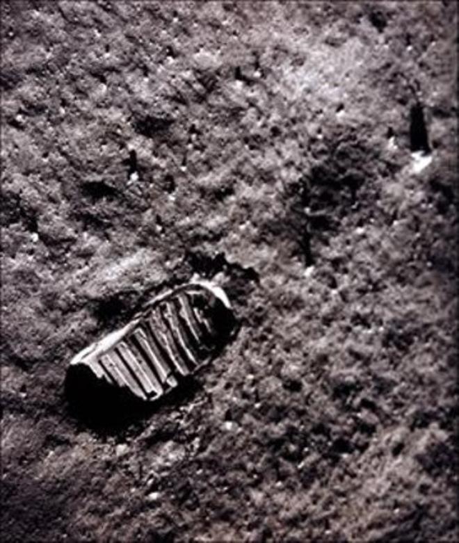 Empremta dels astronautes americans a la Lluna, el 1969.