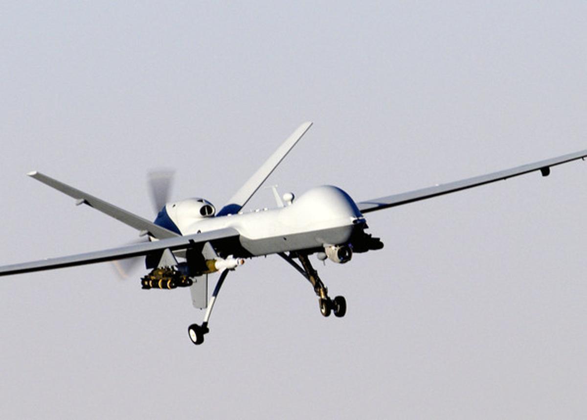 Un 'drone' estadounidense de uso militar, en una imagen de archivo.