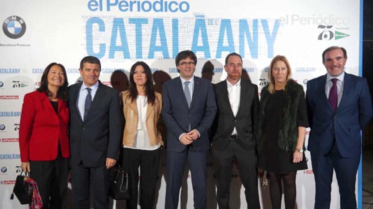 Entrada de los invitados a la gala deentrega del premio Català de l'Any celebrado en el TNC.