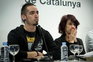 Lanza, en una rueda de prensa en el 2015, tras la emisión de 'Ciutat Morta'.