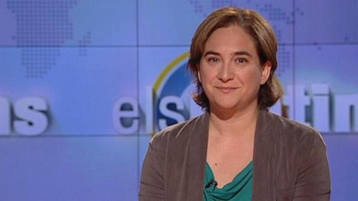 Ada Colau, durante la entrevista en 'Els matins de TV-3'.