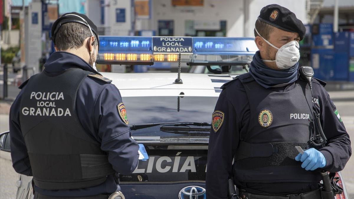 Policía Local de Granada.