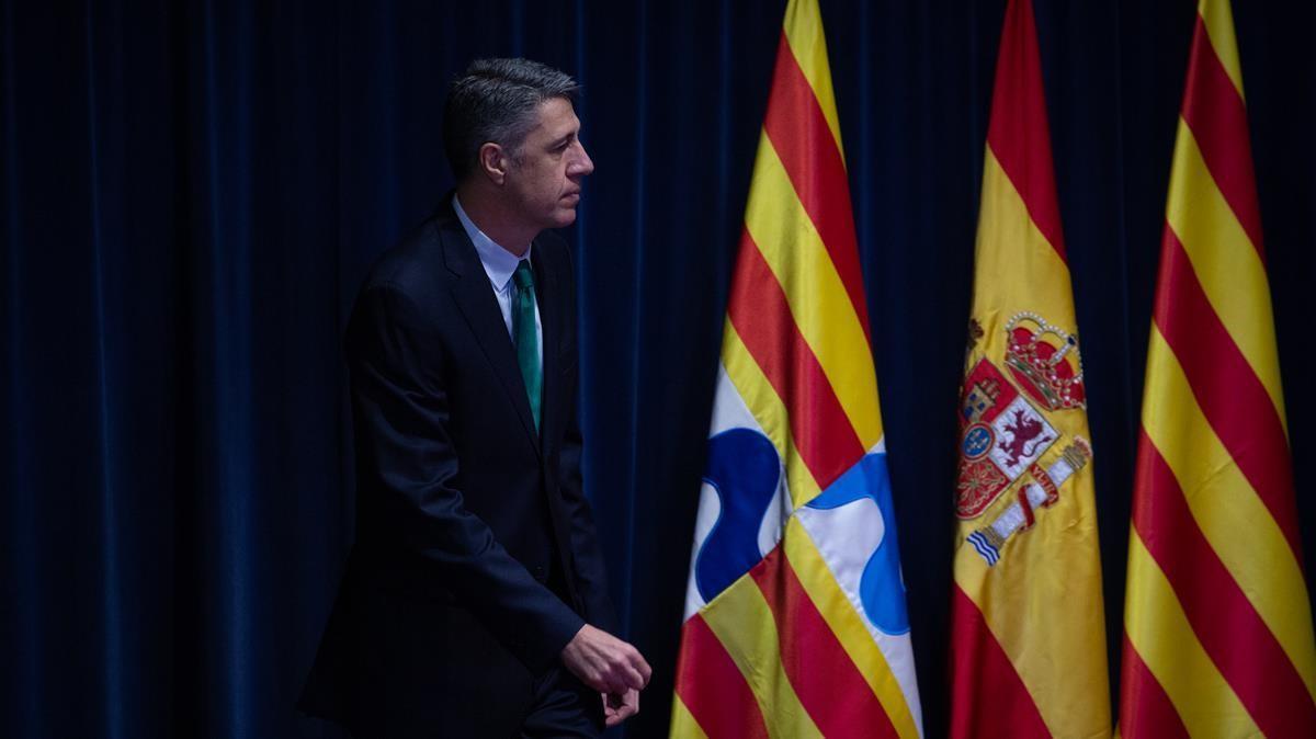 Xavier Garcia Albiol  durante su proclamacion como nuevo alcalde de Badalona