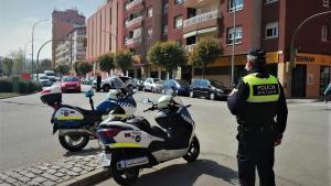 Control de la Policia Local de Mataró.