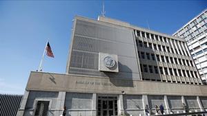 Edificio de la Embajada de EEUU enTel Aviv.
