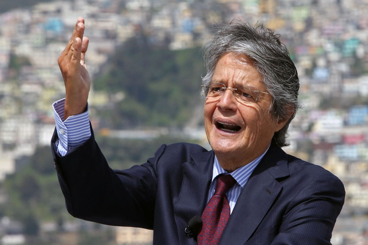 El político conservador ecuatoriano Guillermo Lasso