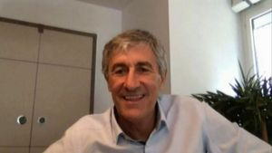 Setién, entrenador del Barça.