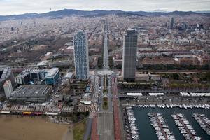 Imagen aérea de la Villa Olímpica.