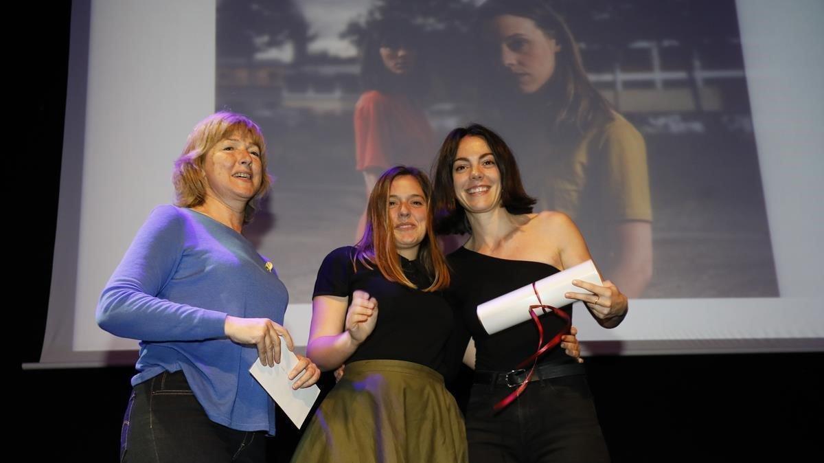 Vicky LuengoyMaria Rodríguezen la ceremónia de entrega de los Premis de la Crítica.Vicky LuengoMaria Rodríguez