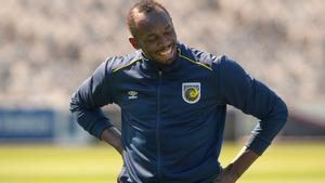Usain Bolt ya entrena con el Central Coast Mariners en su nueva etapa como futbolista.