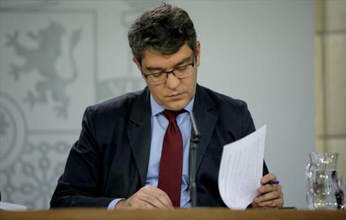 El ministro de Energía, Álvaro Nadal, ayer en la Moncloa.