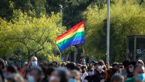 Acto por el Día del Orgullo, este sábado en Barcelona.