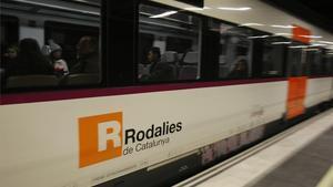 Un convoy de la línea R4 de Rodalies.