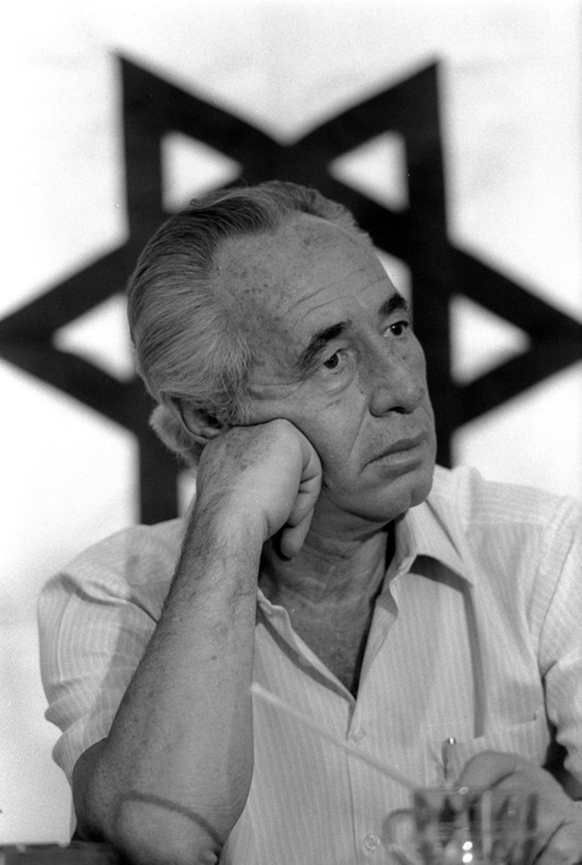 Simon Peres, en una imagen de julio de 1986.