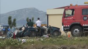 Lugar del accidente en el que han perdido la vida dos personas