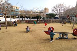 Una de las terrazas del parque de la Llibertat de Mataró que hubieran sido ocupadas por el nuevo correcan que planteó habilitar el Ayuntamiento.