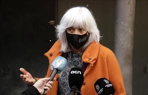 La candidata de la CUP-Guanyem al Parlament, Dolors Sabater, a mediados de diciembre.
