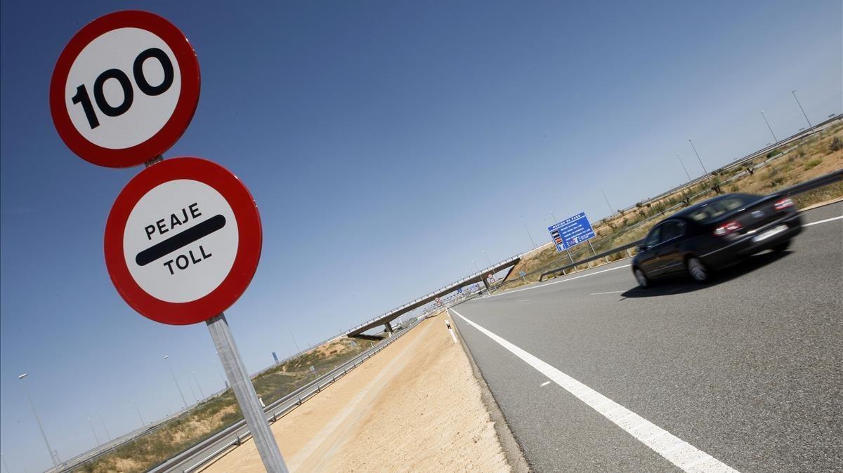Primer tramo de la R-4, a la altura de Madrid.