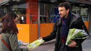 El candidato de Europa Ecología Los Verdes a la alcaldía de Lyon, Gregory Doucet.