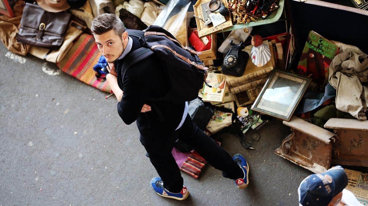 Oriol Querol, en los Encants de Barcelona, el lunes pasado.