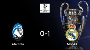 El Real Madrid se adelanta en el encuentro de ida de octavos de final después de ganar 0-1 contra el Atalanta