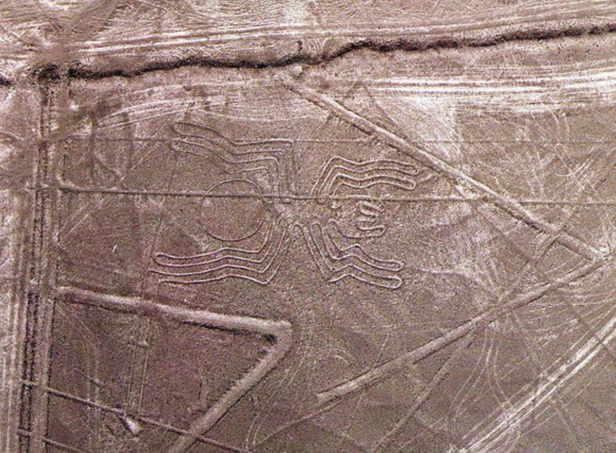 Fotografía de las líneas de Nazca.