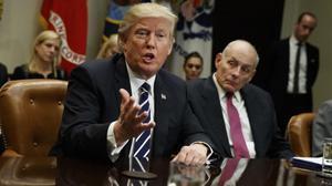 Trump, en una reunión sobre ciberseguridad en la Casa Blanca el pasado mes de enero.