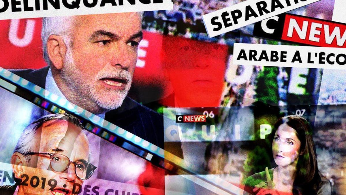 Imagen del canal ultra francés de noticias 24 horas CNews.