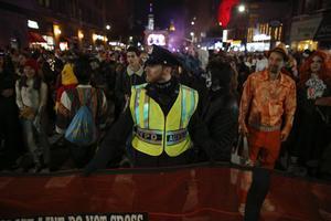 Desfile de Halloween en Nueva York.
