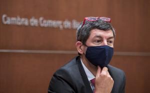 El expresidente de la Cambra de Comerç de Barcelona, Joan Canadell, en un acto en la Llotja de Mar en el 2020.