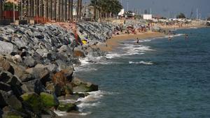 Una playa de Vilassar de Mar, en el Maresme.