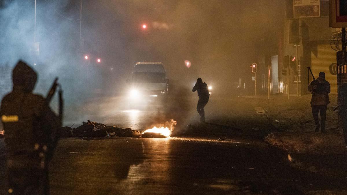 Disturbios en Johannesburgo (Sudáfrica).