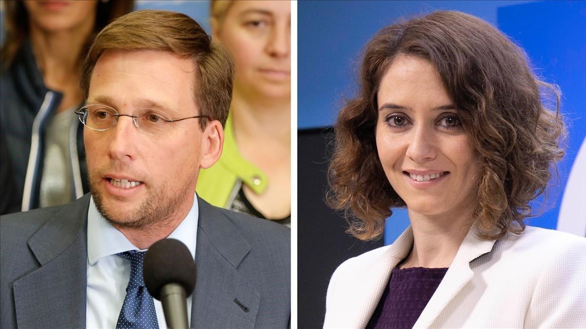 Almeida y Ayuso, los elegidos como candidatos al Ayuntamiento y a la Comunidad de Madrid, respectivamente.
